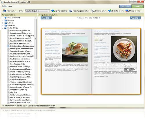 Organizez votre collection cr ez des livres importez des - Creer son livre de cuisine ...