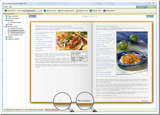 Section nouvelles logiciel le collectionneur de recettes - Creer un cahier de recettes de cuisine ...